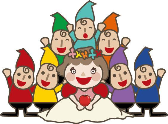 リンゴと白雪姫と七人の小人1