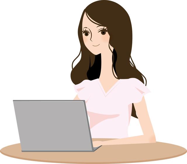 パソコンの画面の外に居る美人640