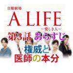 「A LIFE~愛しき人~」 第3話あらすじ 権威と医師の本分